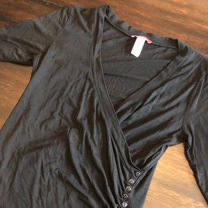 Annie Klein Draped Side Button Top